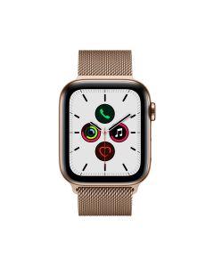 APPLE WATCH SERIES 5 (GPS + 流 動 網 絡 ) 44MM 金 色 不 鏽 鋼 錶 殼 配 金 色 鋼 織 手 環