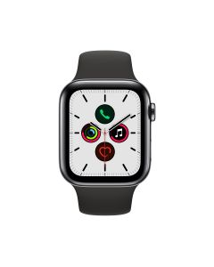 APPLE WATCH SERIES 5 (GPS + 流 動 網 絡) 44MM 太 空 黑 不 鏽 鋼 錶 殼 配 黑 色 運 動 錶 帶 4009751