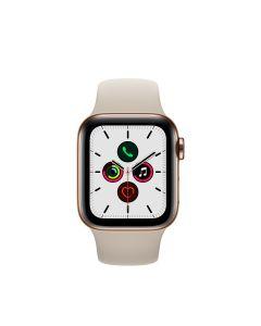 APPLE WATCH SERIES 5 (GPS + 流 動 網 絡) 40MM 金 色 不 鏽 鋼 錶 殼 配 石 色 運 動 錶 帶 4009841