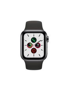 APPLE WATCH SERIES 5 (GPS + 流 動 網 絡) 40MM 太 空 黑 不 鏽 鋼 錶 殼 配 黑 色 運 動 錶 帶 4009861