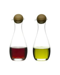 Sagaform - Oil/Vinegar Bottles With Oak Stoppers 2-Pack 5015337