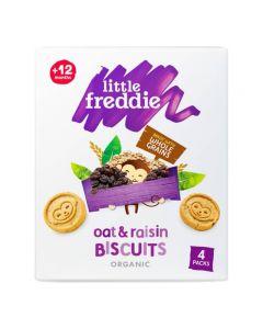 Little Freddie-Organic Oat & Raisin Biscuits (4 x 20g) X 3 Boxes 5060403113801