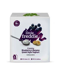 Little Freddie-Organic Creamy Blueberry & Banana Greek Style Yoghurt -Multipack (5 x 100g) 5060403115096