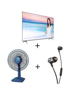 Philips - 50PUD6654 4K 超高清 LED Smart TV + Philips - PRO6105BK Earphones + Panasonic - F-301CH 座檯扇 (30厘米/12吋) 50PUD6654_30gift