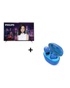 Philips - 55'' 4K Ultra Slim Smart LED TV 55PUD6172 with Philips in ear headphone SHB2505 (while stocks last) (No Free Installation)