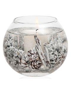Stoneglow - Winter Woods & White Jasmine Natural Wax Fishbowl 魚缸型玻璃裝香氛蠟燭 1583-6082