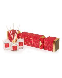 Stoneglow - Nutmeg Ginger & Spice Cracker 迷你杯裝香氛蠟燭3件禮盒裝- Red & Gold Gift Box 1583-6096
