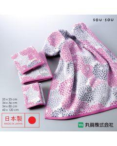 Marushin - 日本今治SOU・SOU無撚系毛巾 - 菊づくし