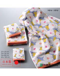 Marushin - 日本今治SOU・SOU無撚系毛巾 - 椿文 6165005_400-700