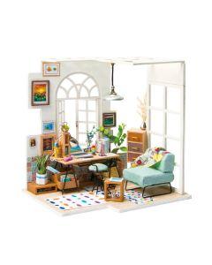 ROBOTIME - DIY Mini Dollhouse Building Model Home Decoration toys Ice Cream Station DGM06 6946785164046
