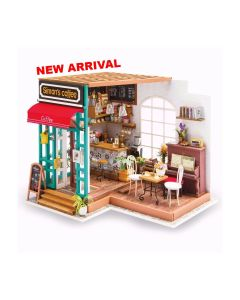 ROBOTIME - DIY Miniature Doolhouse Kit DG109-Simon's Coffee 6946785164657