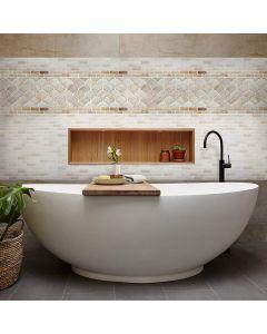 BEAUS - 3D 浴室及廚房多功能牆紙貼_白磚 8804219000262