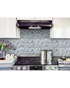 BEAUS - 3D 浴室及廚房多功能牆紙貼 (摩登黑馬賽克瓷磚) 8804219000330