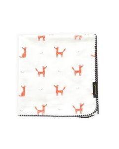 Little Fennec - 100%純棉韓國珊瑚絨保暖小毛毯 - 可愛小狐狸 8806164499290
