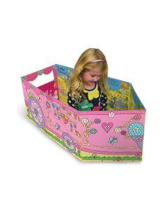 Miles Kelly - 可折疊立體變形紙板玩具書:變形公主車