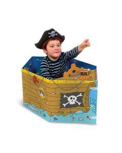 Miles Kelly - 可折疊立體變形紙板玩具書:變形海盜船