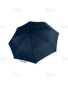 梁蘇記 - 纖維骨自動三縮雨傘 - 黑色