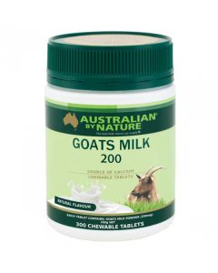 Australian by Nature Goats Milk 200mg 300 Tablets Variety - Natural ABN00621-N