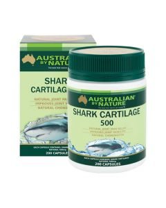 Australian by Nature Shark Cartilage 500mg 200 Capsules ABN00625