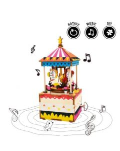 ROBOTIME - DIY Music Box-AM304-Merry-Go-Round 6946785105636