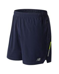 New Balance 男裝7寸短褲藍色