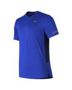 New Balance男裝Ice 2E 短袖上衣藍色
