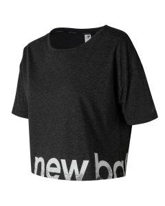 New Balance女裝圖案短袖上衣黑色(加大碼)