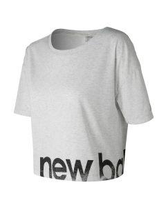 New Balance女裝圖案短袖上衣淺灰色