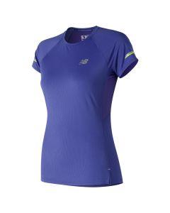New Balance女裝 Ice 2.0 短袖上衣藍色