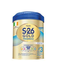 惠氏 - S-26 GOLD PROGRESS 3號奶粉 (900克) B-WY0019