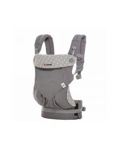 Ergobaby - 四式360嬰兒背帶 - 淺灰露珠 - 灰色