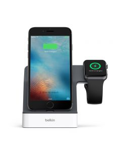 BELKIN POWERHOUSE CHARGE DOCK APPLE WATCH/IPHONE WHITE 4098151
