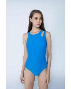 Gourami x Charmaine Peek-A-Boo Swimsuit Blue