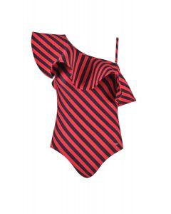Gourami x Charmaine Rufflemania Swimsuit Red
