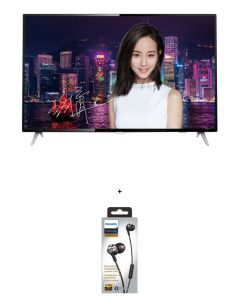 Philips - 55'' 4K Ultra Slim Smart LED TV 55PUD6172 with Philips in ear headphone (Random Color, while stocks last) (No Free Installation)