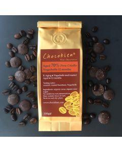 Chocobien Chocolatier - Aged 70% Peru Criollo Chocolate with Yirgacheffe coffee 12 months CC-0003