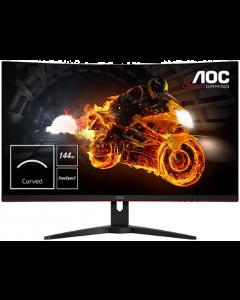 """AOC CQ32G1 31.5"""" 曲面無邊框電競遊戲專用顯示器"""
