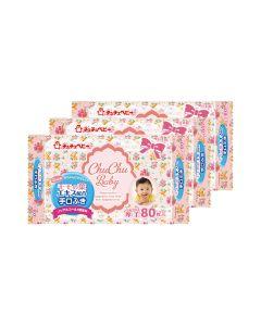 Chu Chu Baby - 嬰兒手口濕抹巾 (80片) 3包裝
