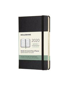 Moleskine 2020 全年12個月經典手帳横式周記本黑色(9 x14 CM) HORIZONTAL_black
