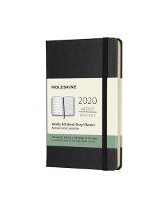 Moleskine 2020 全年12個月經典手帳周記本黑色 NOTEBOOK_black