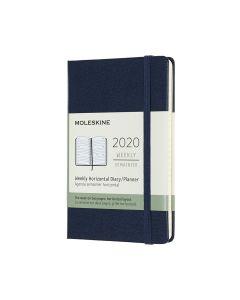 Moleskine 2020 全年12個月經典手帳横式周記本藍色 (9 x14 CM) HORIZONTAL_blue
