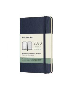Moleskine 2020 全年12個月經典手帳周記本藍色 (9 x14 CM) NOTEBOOK_blue