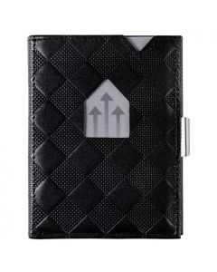 挪威Exentri Wallet 卡夾真皮防盜錢包 - 黑色(棋盤紋) Exentri_W_Blue