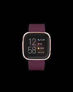 FITBIT VERSA 2 智能手錶 - 波爾多酒紅/玫瑰銅