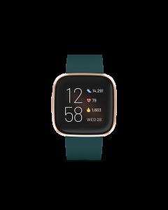 FITBIT VERSA 2 智能手錶 - 翡翠綠/玫瑰銅