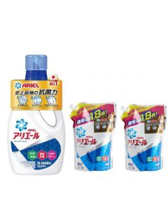 Ariel - Laundry Liquid 910G x1 + Refill 1260G x2 G00083