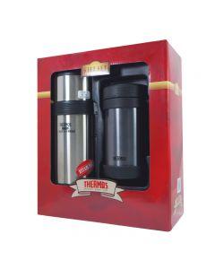 Thermos-500毫升經典真空控溫杯 + 750毫升真空控溫壺
