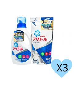 Ariel - LAUNDRY LIQUID BLUE WITH REFILL SET 910G+720G X3 H01605_3