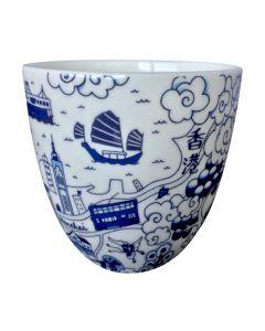 Faux - Hong Kong Willow Pattern二件裝茶杯 HKWPEM-WC2