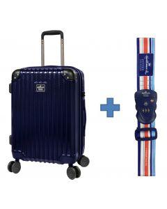 [送HALLMARK 行李帶] Hallmark Design Collection Pc Case 4輪行李箱 (藍色)(HM850T)